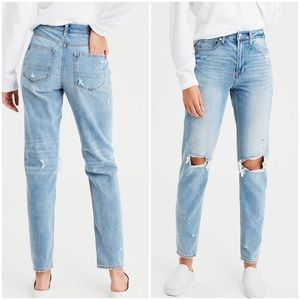 American Eagle High Rise Mom Jeans Sz 20 Short
